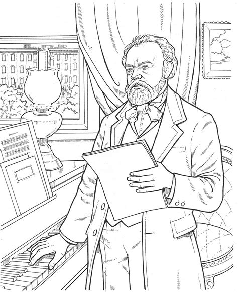 Composer Coloring Pages composer coloring http littleschoolhouseinthesuburbs