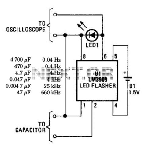 capacitor led flasher tester circuit page 2 meter counter circuits next gr