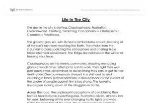 Creative Writing Essay by Creative Writing In The City Gcse Marked By Teachers