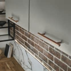 Copper Effect T bar Handle   Kitchen handles   Howdens Joinery
