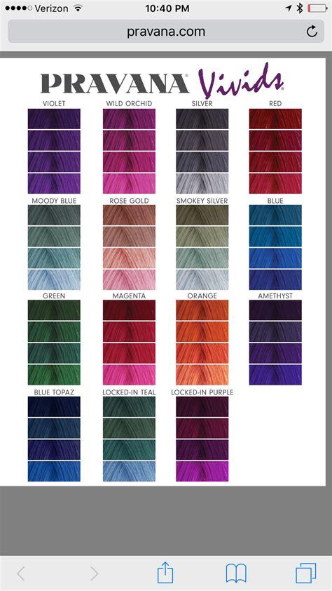pravana hair color pravana vivids color chart hair in 2019 pravana hair