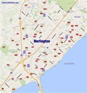 burlington canada map burlington map of parks diamonds