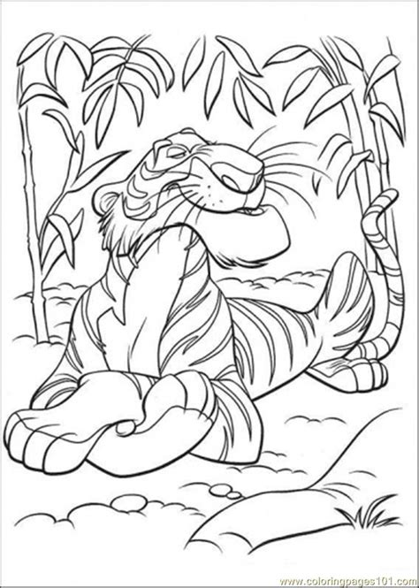 coloring pages shere khan cartoons gt the jungle book