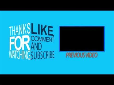 after effects free template outro free outro template after effects doovi