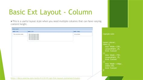 extjs layout column height sencha extjs learning part 1 layout and container in