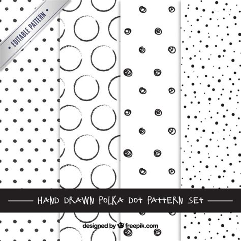 illustrator pattern polka dots hand drawn polka dots patterns vector free download
