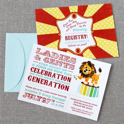 Circus Baby Shower Invitation Templates by 23 Best Baby Shower Peanut Circus Themed Images