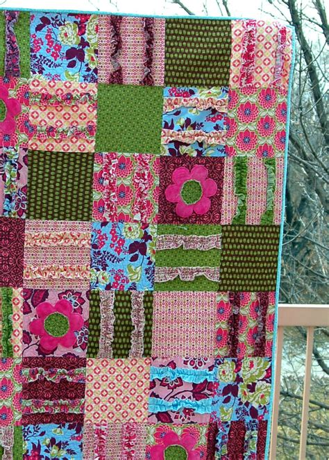 ruffled quilt pink polka dot creations