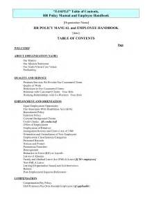 Policy Handbook Template by Best Photos Of Policy Employee Handbook Template Sle