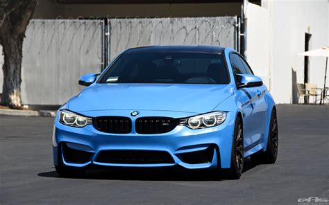 yas marina blue bmw m4 on matte black gts wheels