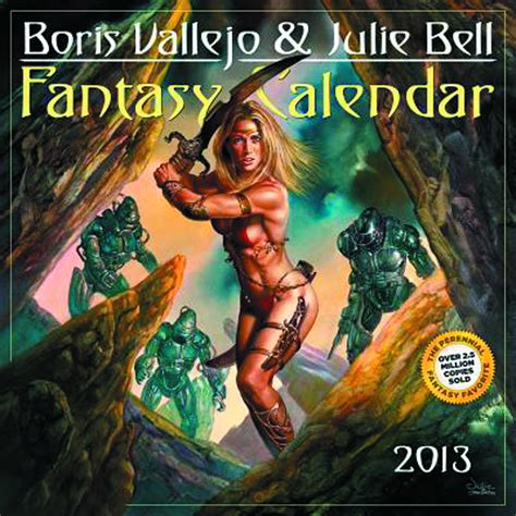 boris vallejo julie bell s wall calendar 2018 previewsworld boris vallejo julie bell 2013 wall