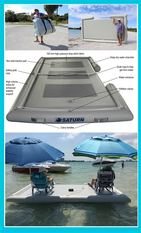boat dock swim platform inflatable island boat dock floating swim pool platform
