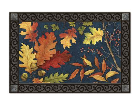 fall foliage seasonal recycled rubber back matmates door mat