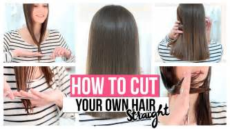 how to cut hair with how to cut your own hair