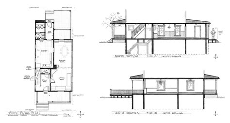 Plan Section Drawing by House Plan Sections Axon Fall 2010 Alexandra