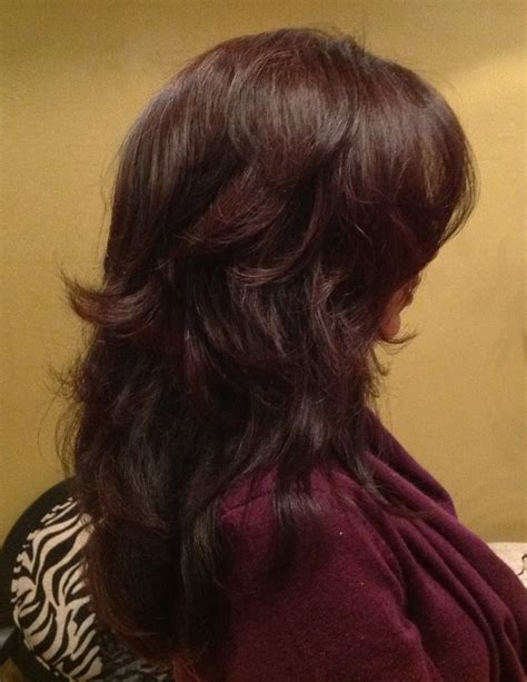 hair extensions that are already layered beautiful deep tone colors gorgeous layered haircut yelp
