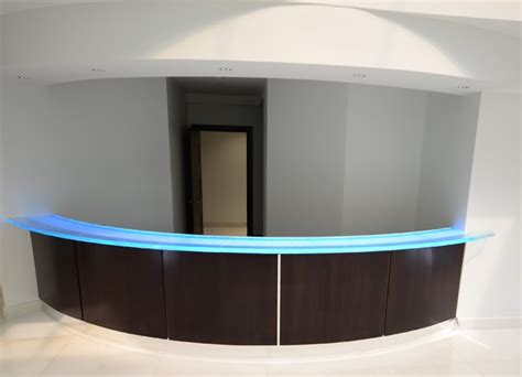 Glass Reception Desk Modern Ta By Downing Designs Reception Desk Glass