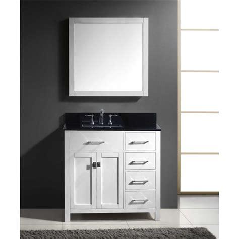 bathroom vanity with drawers on right side caroline parkway 36 single bathroom vanity cabinet set