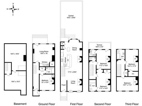 New York Brownstone Floor Plans | new york brownstone floor plans house i ll build some