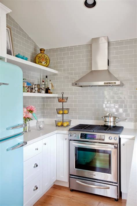 Turquoise And Grey Kitchen by The Cross Design