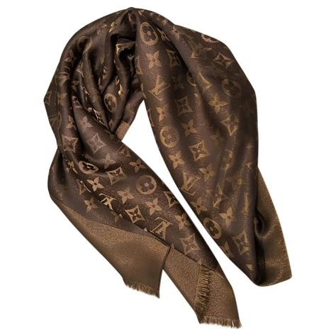 silk scarf louis vuitton brown in silk 2144048