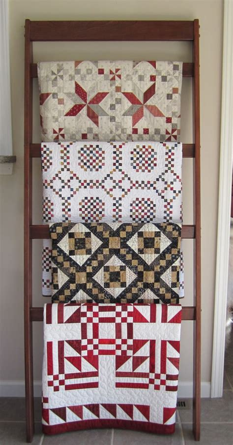 Quilt Rack Display by Free Ladder Quilt Rack Plans Woodworking Projects Plans