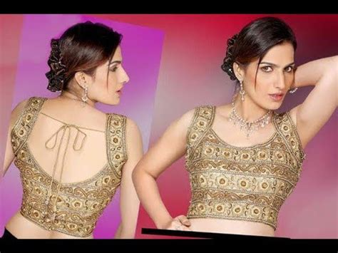 Emico 3 Top Blouse Hq top beautiful sleeveless saree blouse design 2017