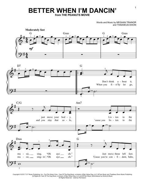 better when i m dancin better when i m dancin sheet music by meghan trainor