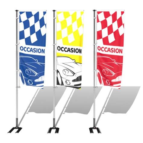 porte drapeau voiture kit avec drapeau pavillon occasion avec damier s1 pour