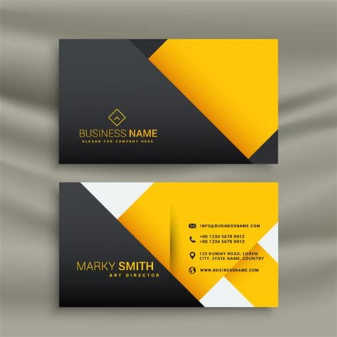 orange and black business card psd design techfameplus yellow and black geometric business card vector free