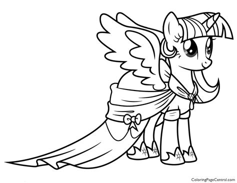 My Pony Coloring Pages Princess Twilight Sparkle Printable My Little Pony Princess Twilight Sparkle 02 Coloring