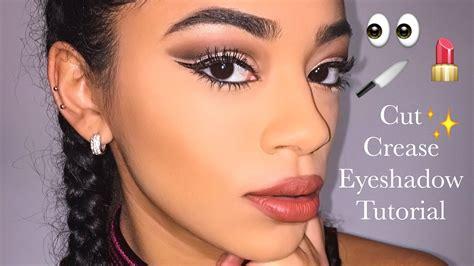 eyeshadow tutorial youtube cut crease eyeshadow tutorial jasmeannnn youtube