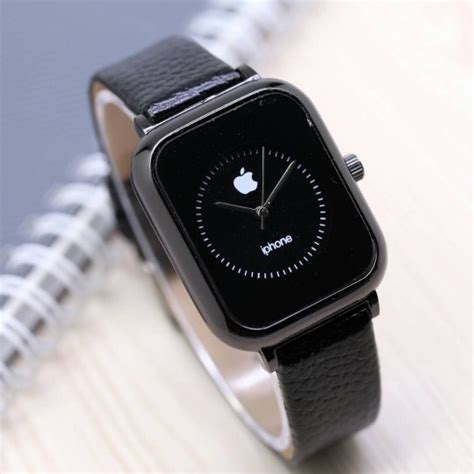 Jam Tangan Iphone Kulit jual beli jam tangan wanita iphone hitam baru