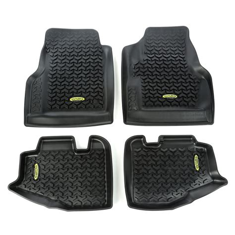 97 Jeep Wrangler Accessories Floor Liners Kit Black 97 06 Jeep Wrangler Unlimited Tj