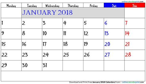 free windows calendar template 2018 windows calendar template 2018 ivedi bralicious co