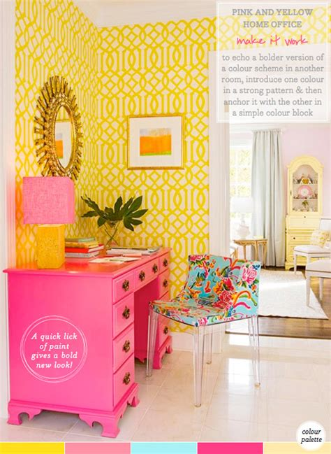 palette addict yellow pink home office idea bright