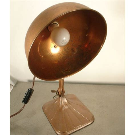 Vintage Copper Medical Table Lamp Doctor Heat Light Therapy