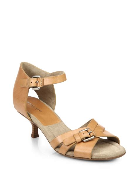 micheal shoes lyst michael kors raleigh leather sandals in brown