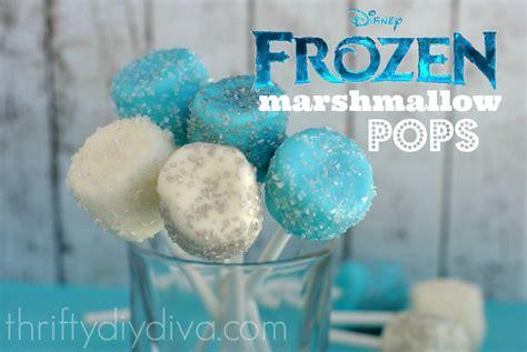 disney frozen recipes fun marshmallow pops