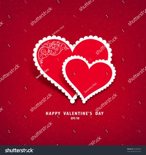 s day classics paper classic valentines day stock vector