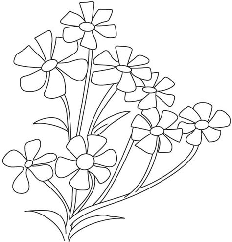 coloring pages small flowers free coloring pages of small flowers