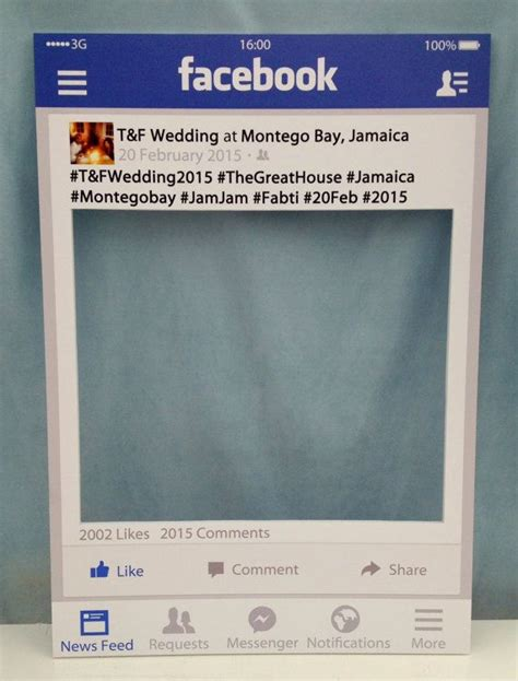 Large Medium Personalised Facebook Photo Booth By Instaframeuk Weddings And Things Pinterest Frame Prop Template Free