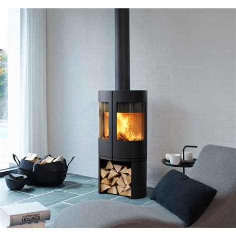morso 6600 series modern freestanding wood heater - Modern Freestanding Wood Fireplace