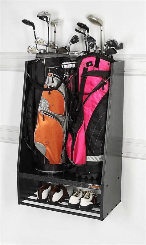 Garage Caddy by Gladiator Premier Series Welded Steel 2 Bag Golf Caddy