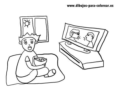 imagenes de niños viendo television para colorear el ni 209 o y la tele dibujos para colorear