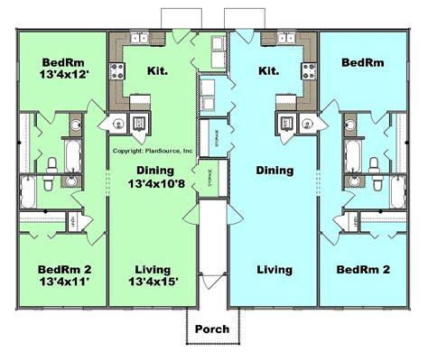 j2070 house plans by plansource inc duplex plan j0905d plansource inc