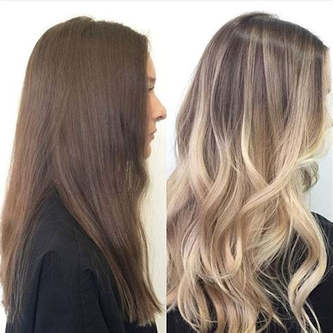 brown hair to blonde balayage before and after brunette to blonde balayage before and after