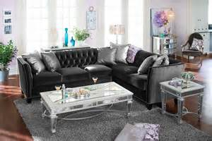 value city sectional sofa gray upholstery 2 pc