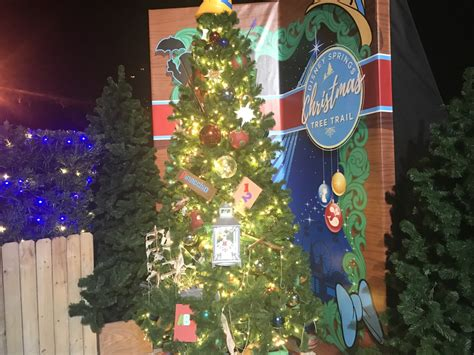 the christmas tree trail disneysprings photos the