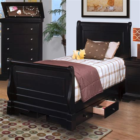 belle rose bedroom set new classic belle rose youth twin sleigh bed w underbed storage dunk bright furniture